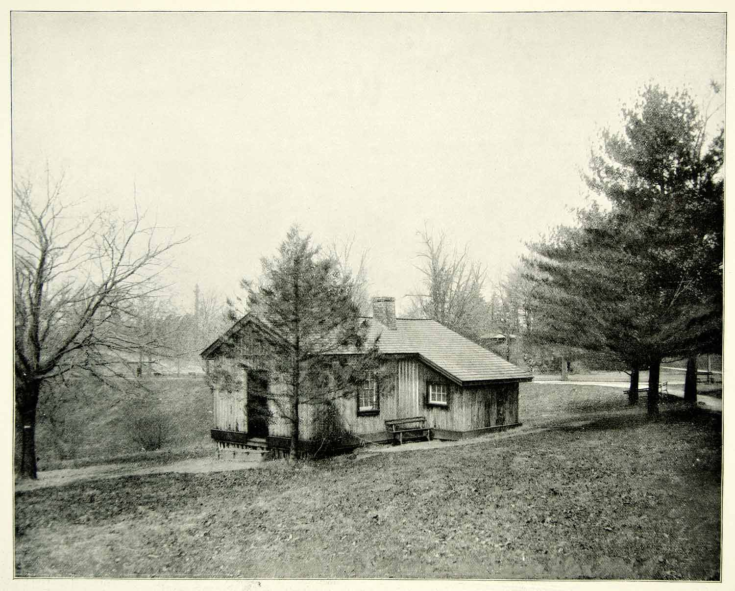 Wonderful image of 1894 Print Ulysses S Grant Log Cabin Fairmount Park Philadelphia PA  with #8B8440 color and 1500x1205 pixels