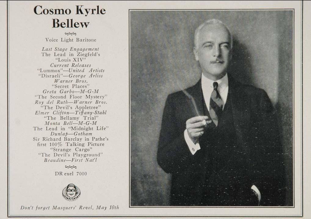 Cosmo Kyrle Bellew Net Worth