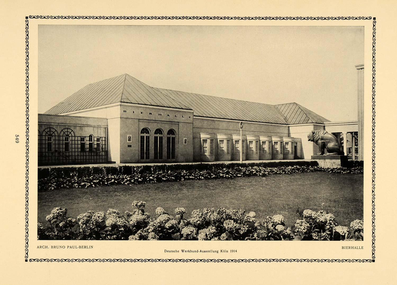 D Printer Exhibition Germany : Print bruno paul berlin germany beer hall koln