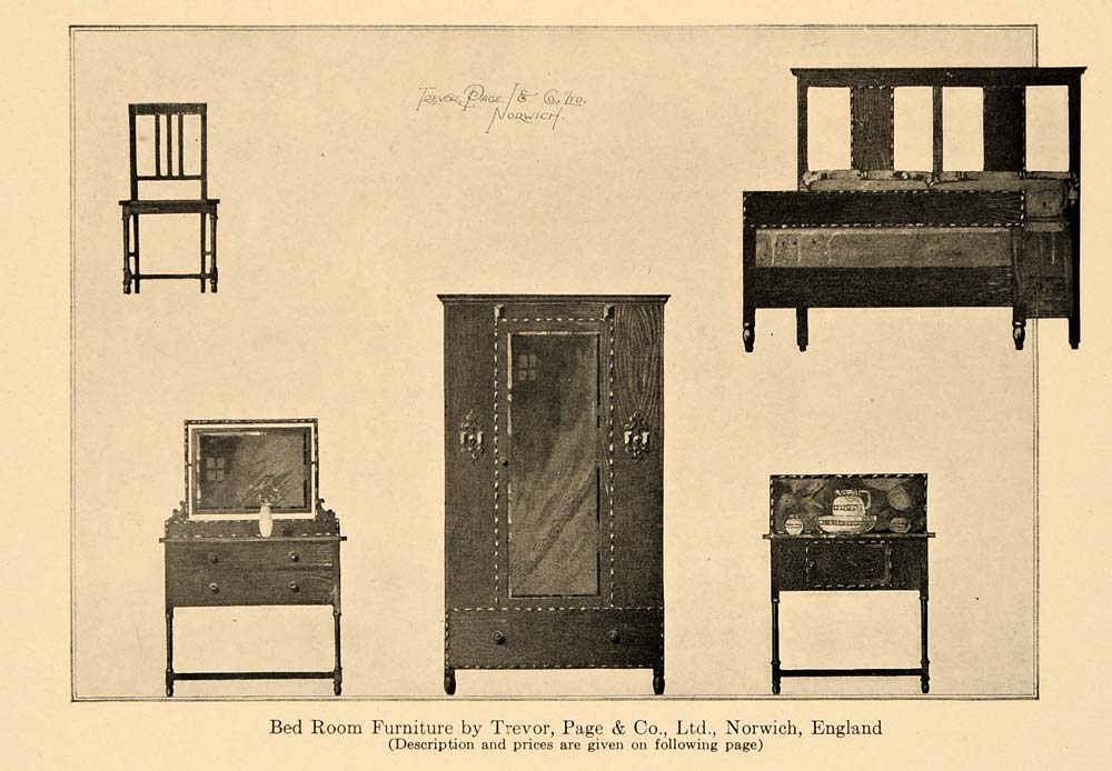 1920 ad trevor page bedroom furniture norwich england for Furniture norwich