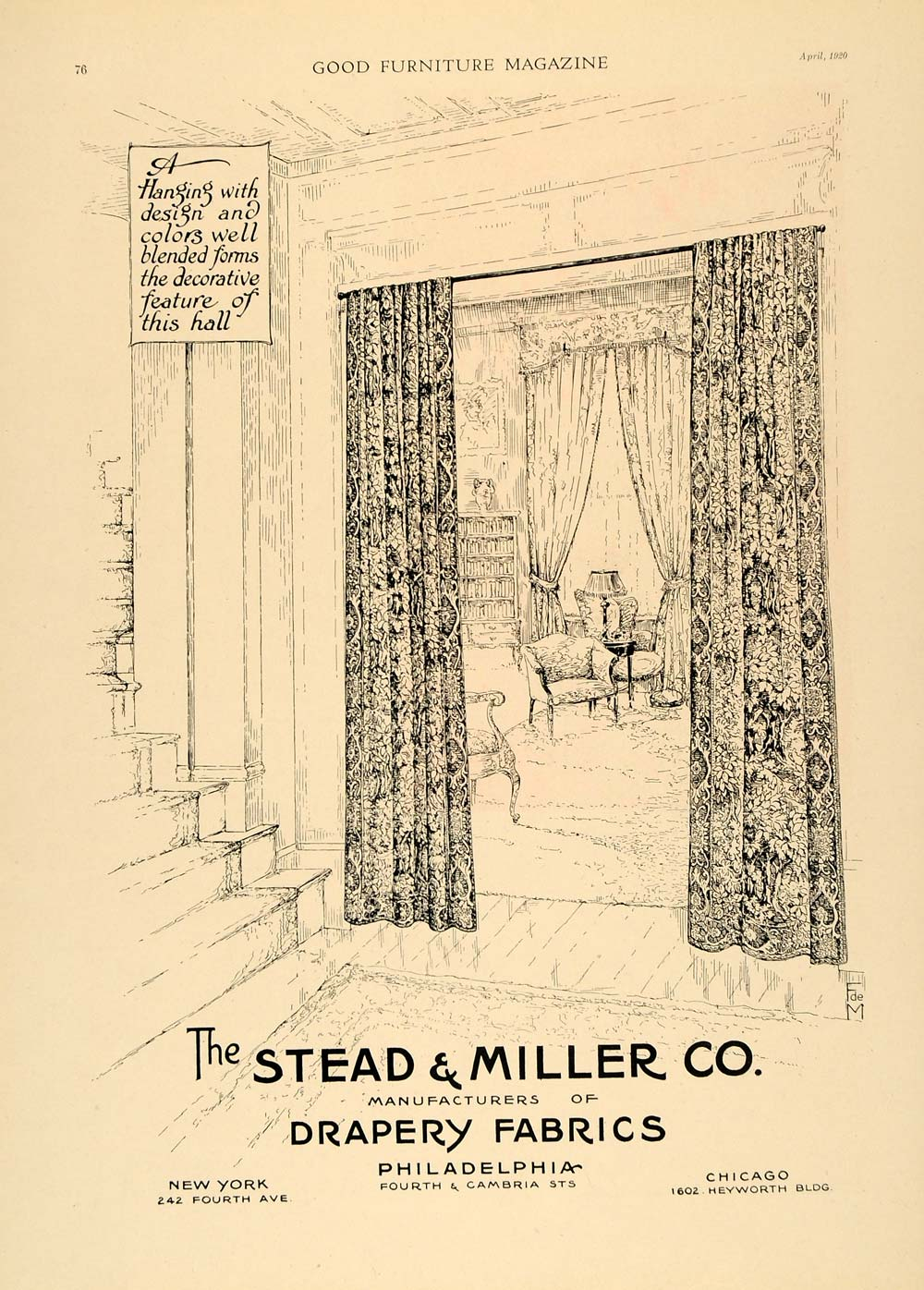 1920 ad stead miller drapes fabrics curtains decor new