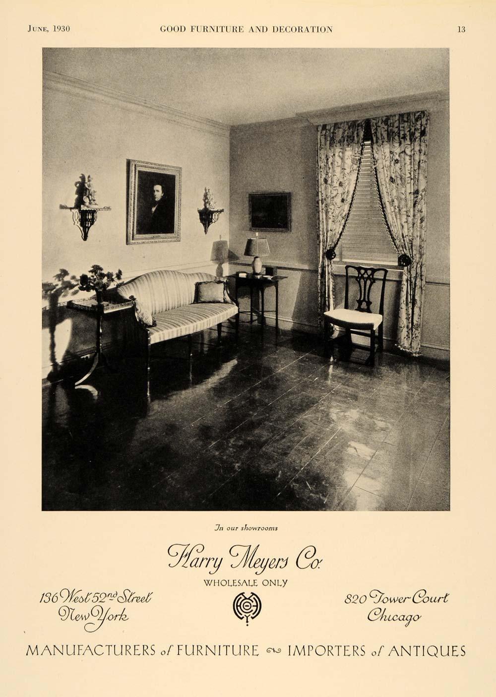 1930 Ad Harry Meyers Wholesale Furniture Antiques Ny Il Original Advertising Ebay
