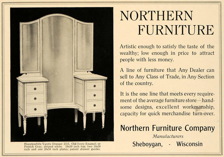 1919 Ad Northern Furniture Co Hepplewhite Dresser 2315