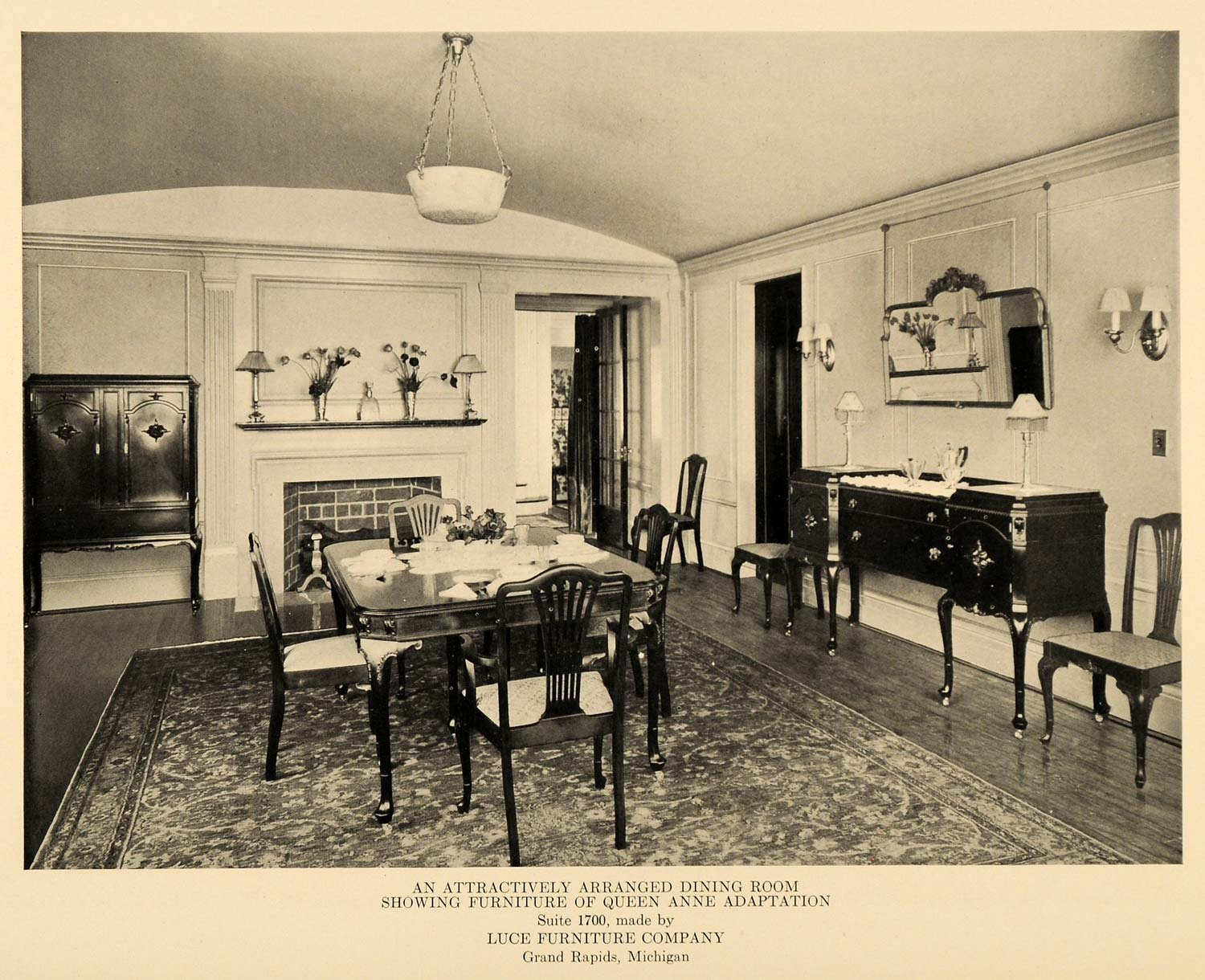 1919 ad luce furniture company dining room queen anne ebay - Queen anne dining room furniture ...