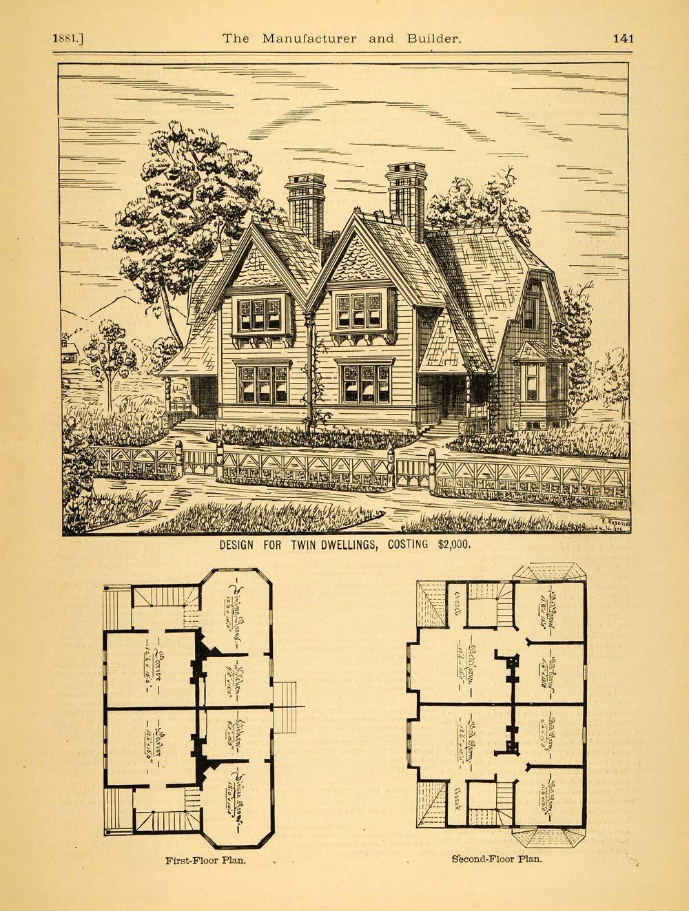 1881 Print House Duplex Architectural Victorian Design