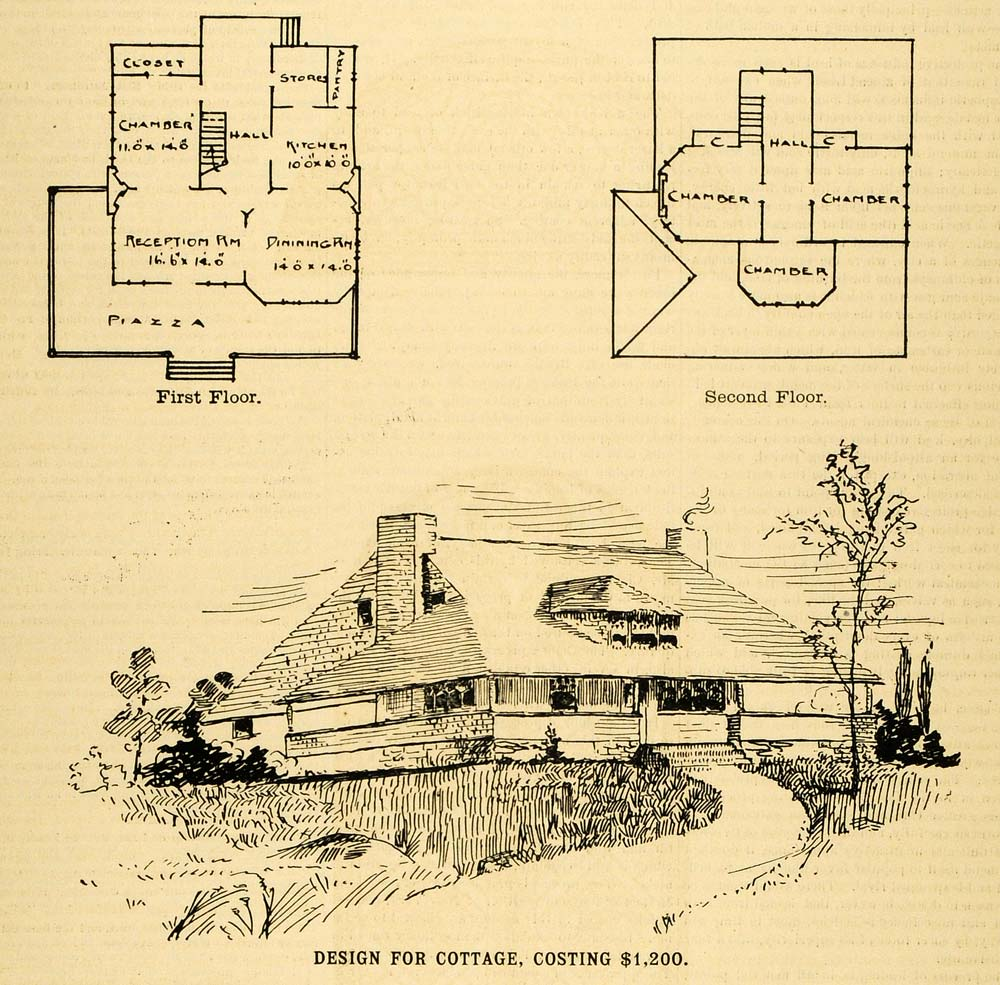 1890 print cottage architectural design floor plans 1890 home architecture