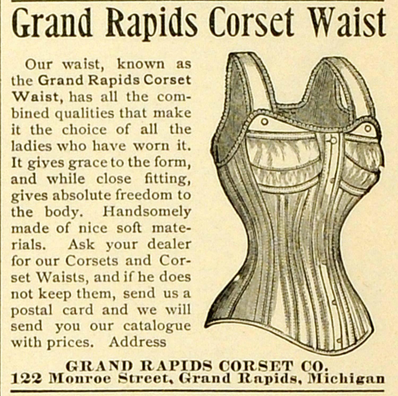 1893 ad clothing accessories grand rapids corset