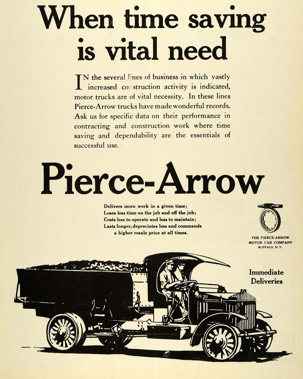 1919 Ad Pierce Arrow Automobile Motor Car Vehicle Buffalo