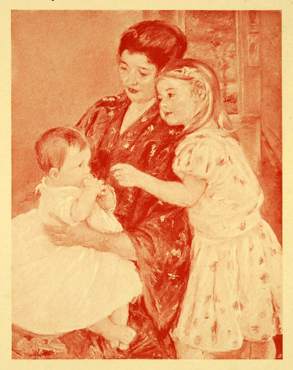 mary cassatt mother and child 1905 Mother child art  framed art print, three ages of woman - mother and child, 1905' by  mother and child against a green background by mary cassatt framed.