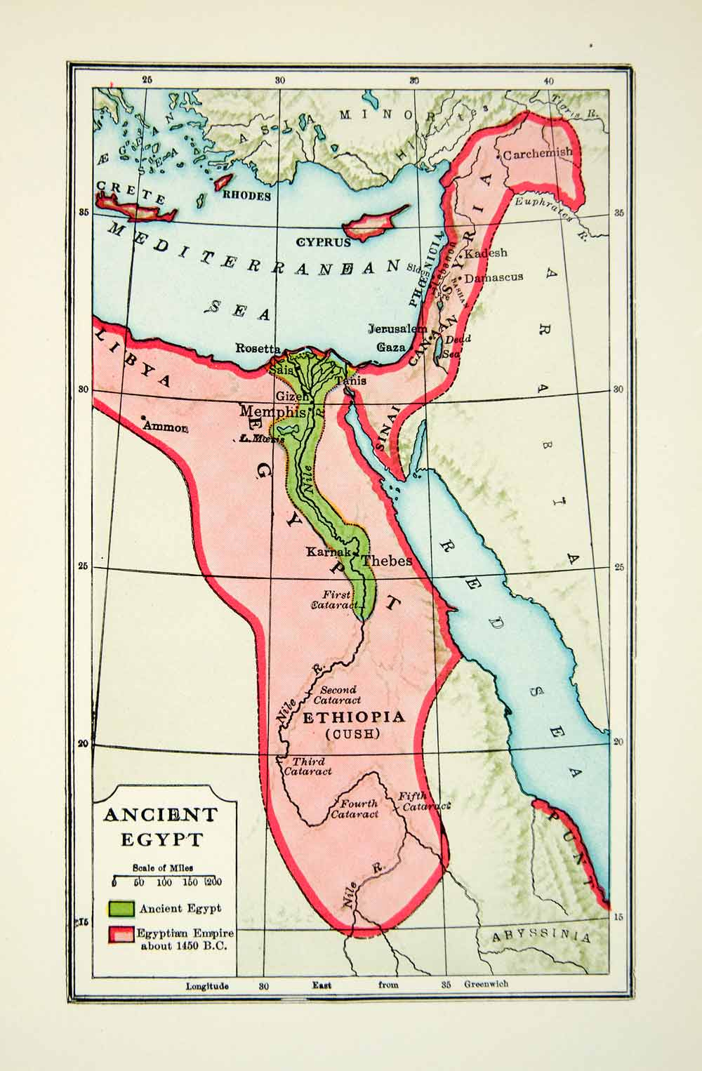 It is a photo of Critical Ancient Egypt Map Printable