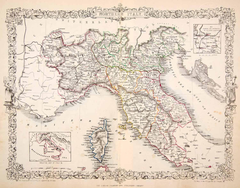 意大利地区地图