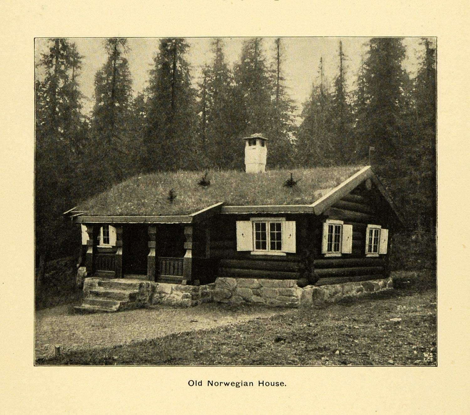 1900 print ancient norwegian house architecture log cabin for 1900 architecture houses