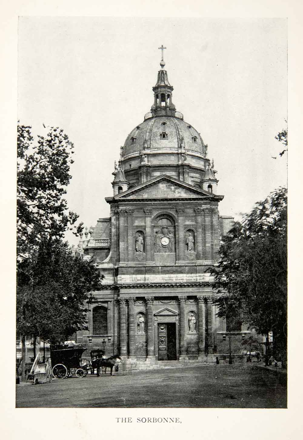 1900 print university paris sorbonne edifice latin quarter for Sorbonne paris