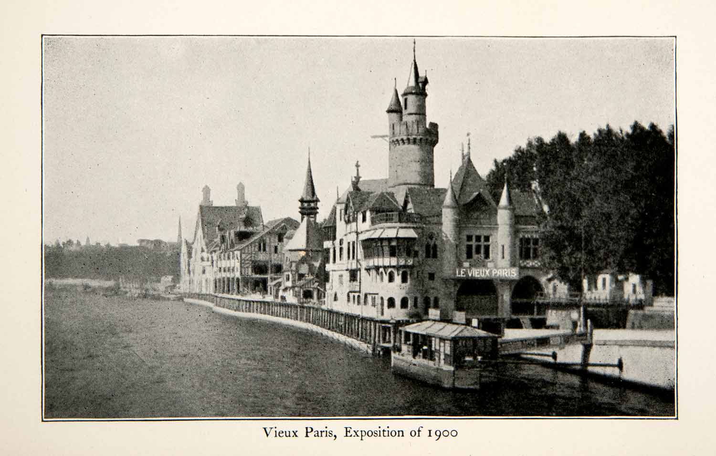 1900 print vieux paris exposition world loubet petit grand palais belle epoque ebay - Exposition grand palais paris ...