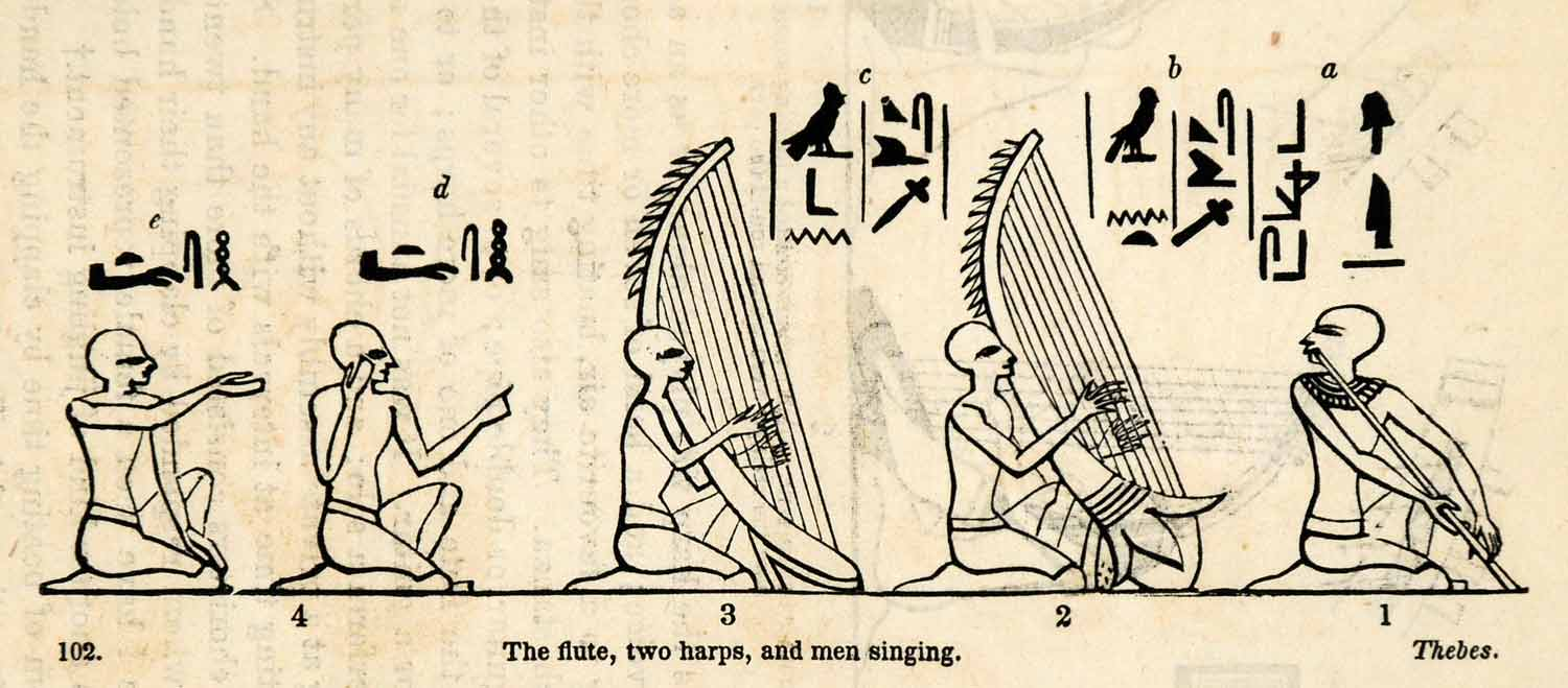 music and instruments in ancient egypt Music was an integral part of religious worship in ancient egypt, so it is not  all  the major categories of musical instruments (percussion, wind, stringed) were.