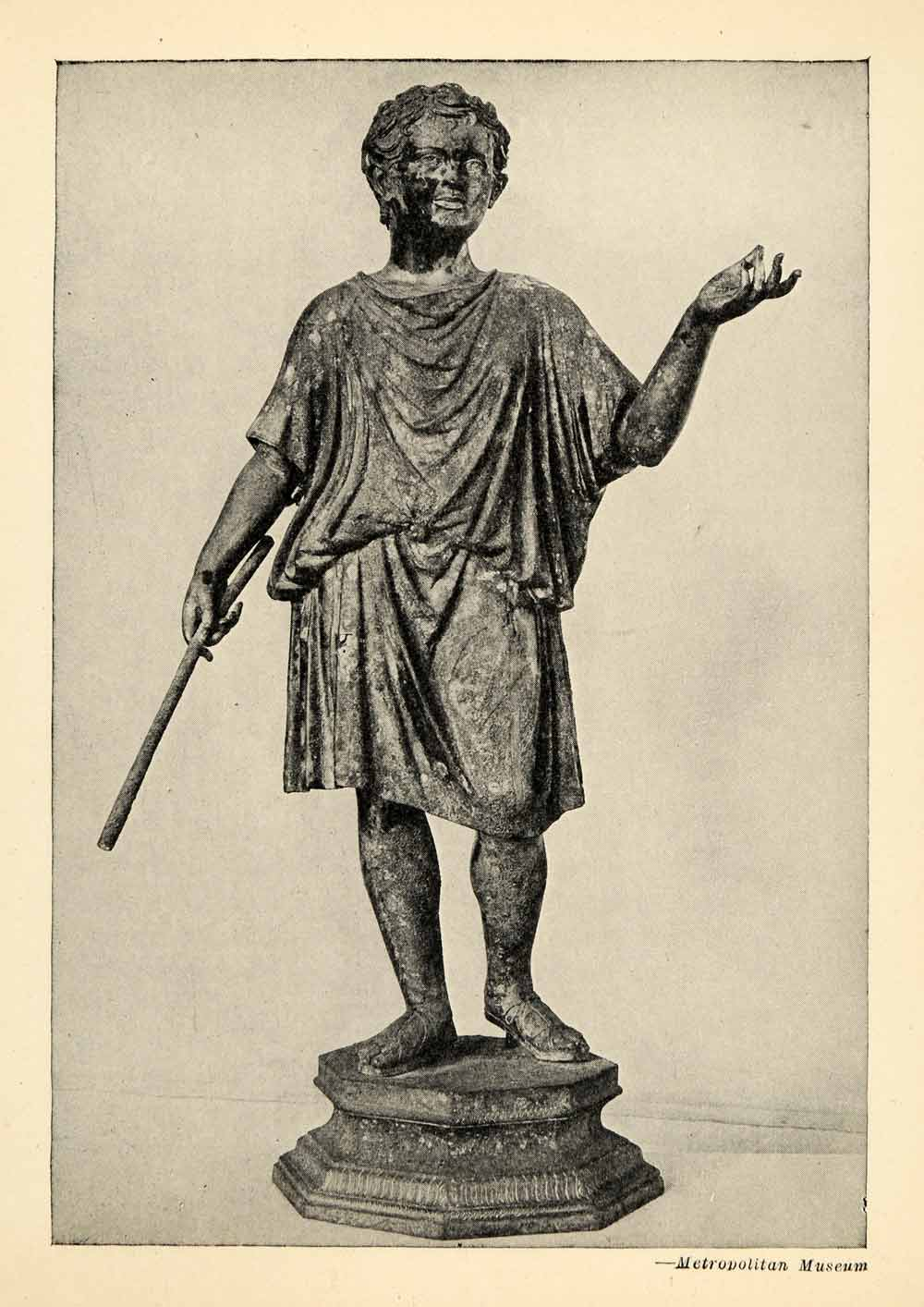 bronze statue of an aristocratic boy Bronze statue of an aristocratic boy roman: 27 bc-ad 14 medium: bronze now at the metropolitan museum of art.