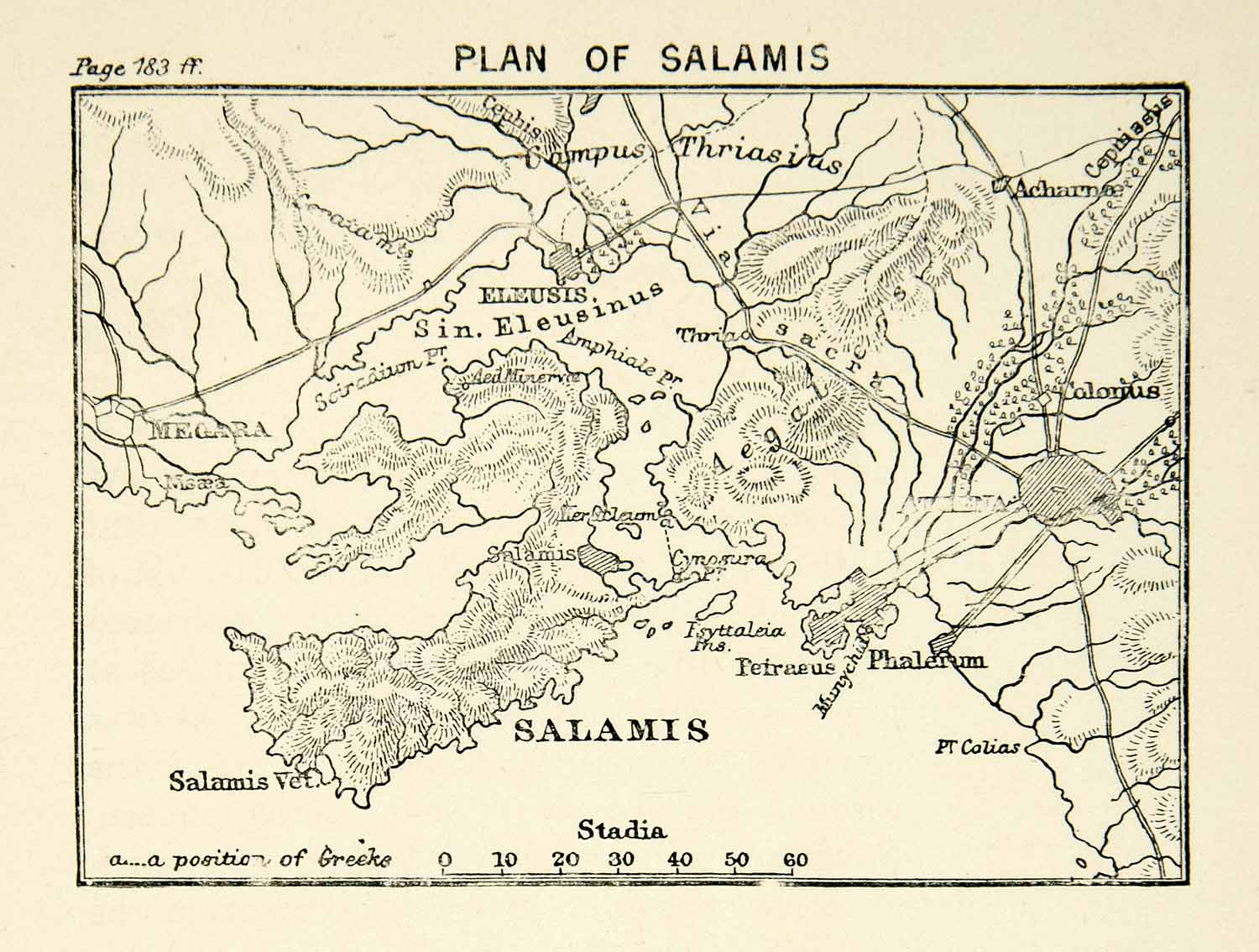 Battle of Salamis Map Salamis Ancient Greece Map