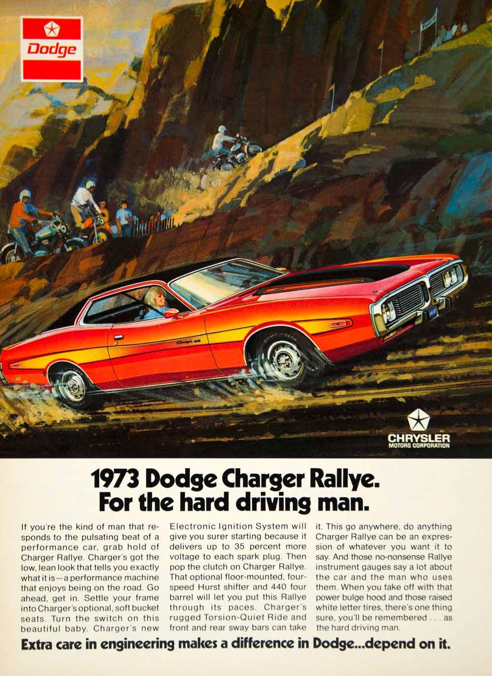 1972 Ad Dodge Charger Rallye Chrysler Motor Company